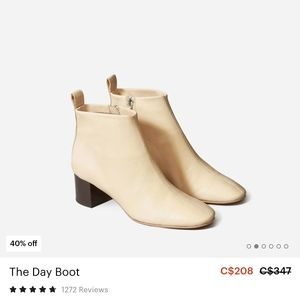 Everlane day ecru boots